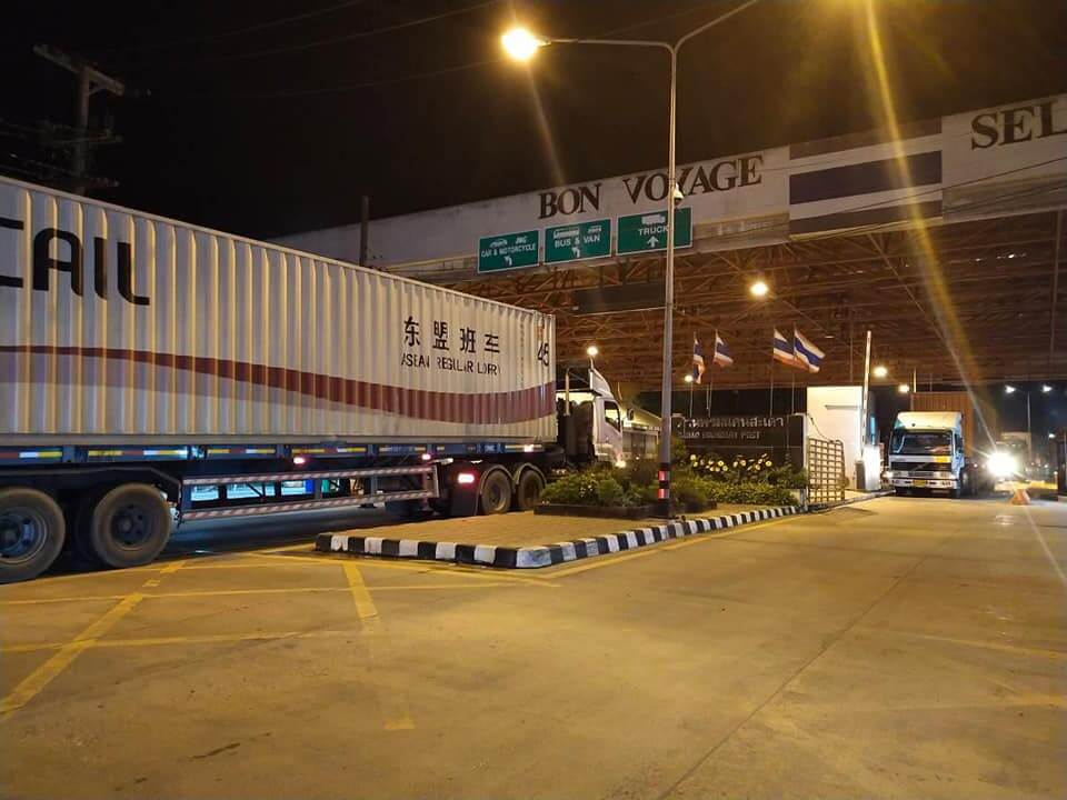 Hàng hóa được vận chuyển qua biên giới