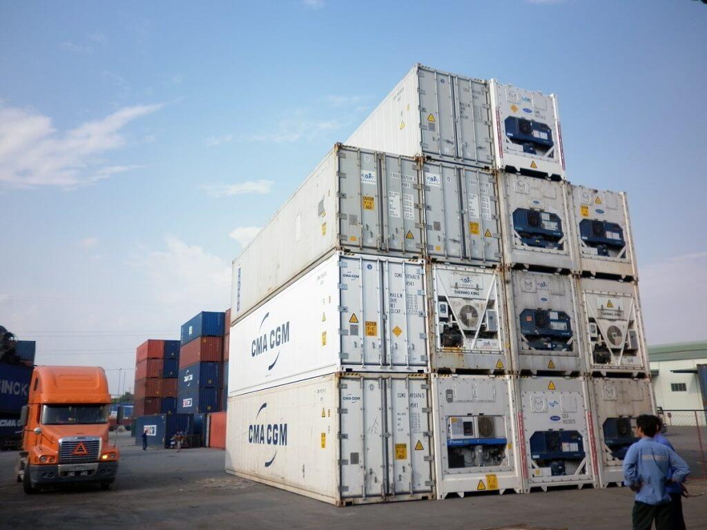 Xử lý hàng hóa container lạnh