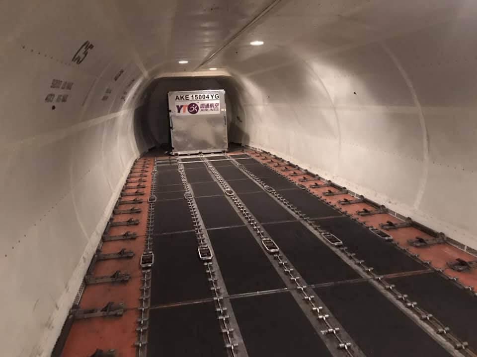 Hình ảnh khoang máy bay chuyên dụng chở hàng
